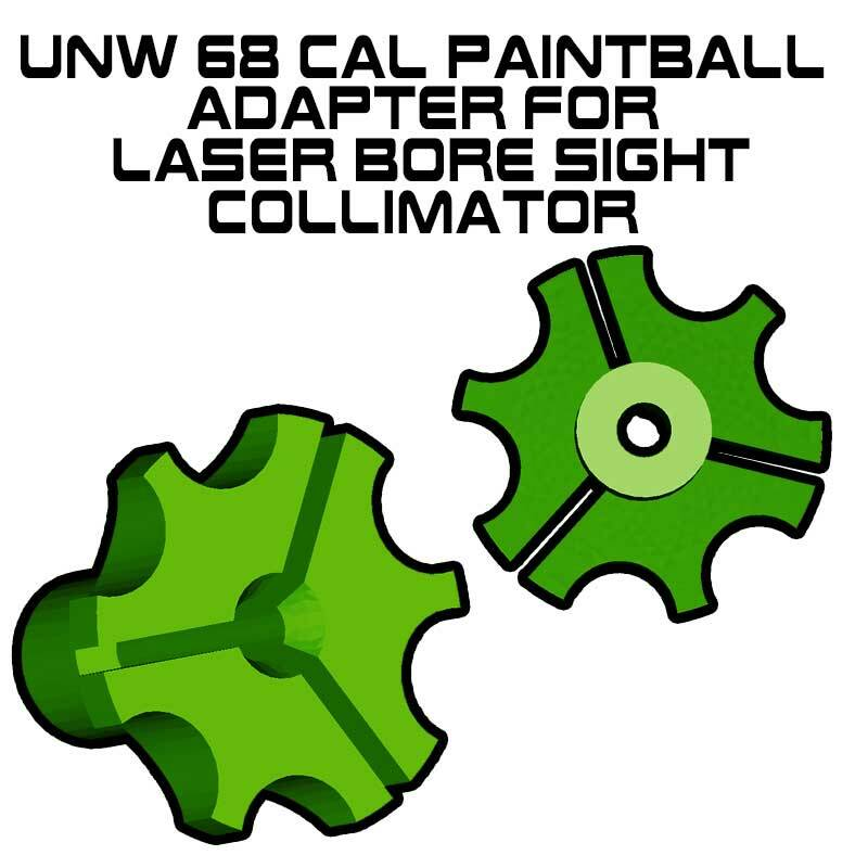 UNW .68 Cal Paintball Adapter for Laser Bore Sight Collimator