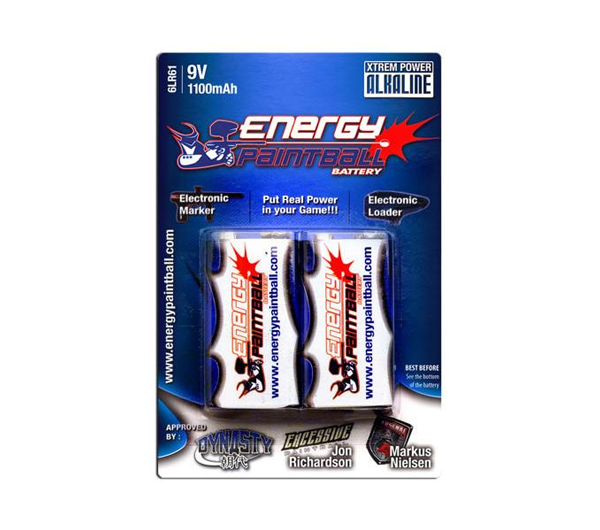 Energy Paintball 9 volt 2 pack