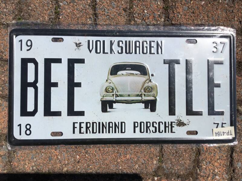 vintage replica numberplate Volkswagen Beatle
