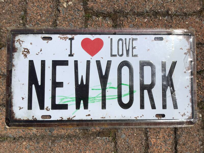 vintage replica numberplate i love New York