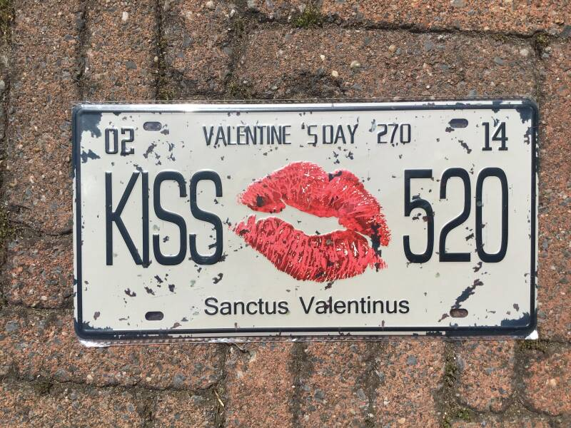 vintage replica numberplate valentine day