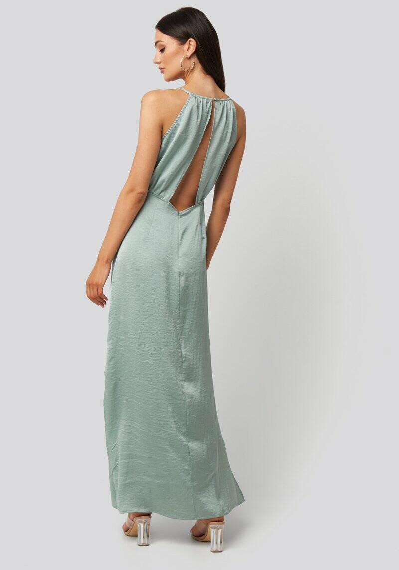 Adelle Open Back Dress Dusty Mint