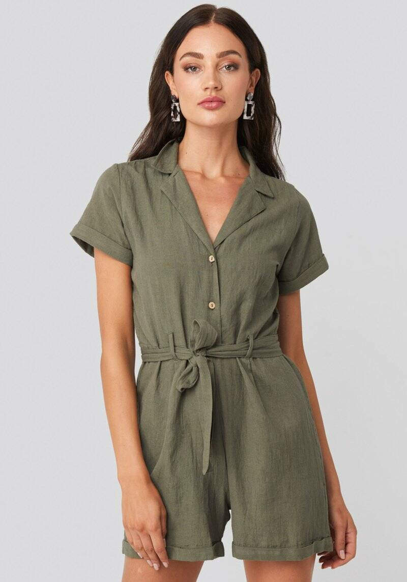Andrea Playsuit Army Green