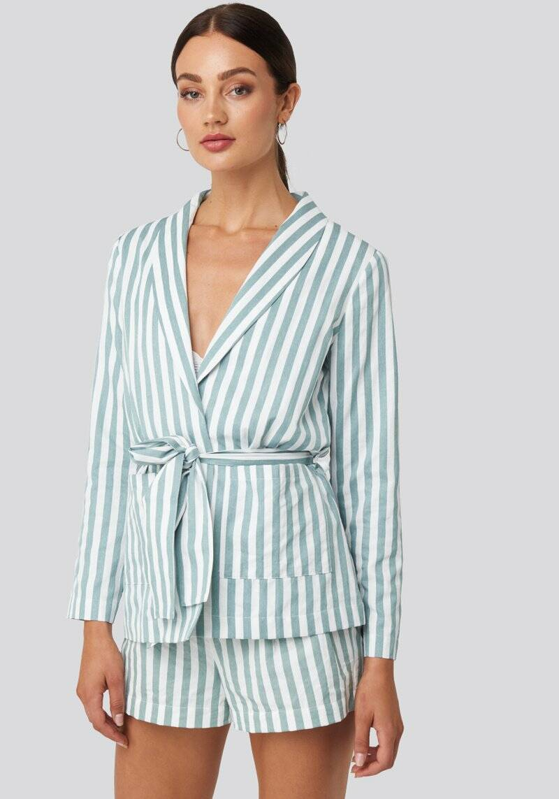 Blair Blazer mint white stripe