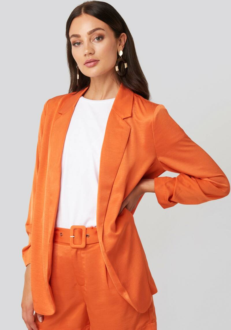 Kelly Satin Blazer Orange