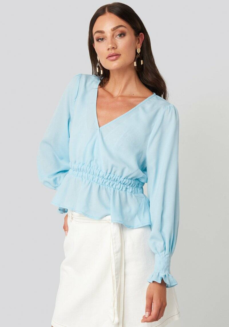 Polly Blouse Light Blue