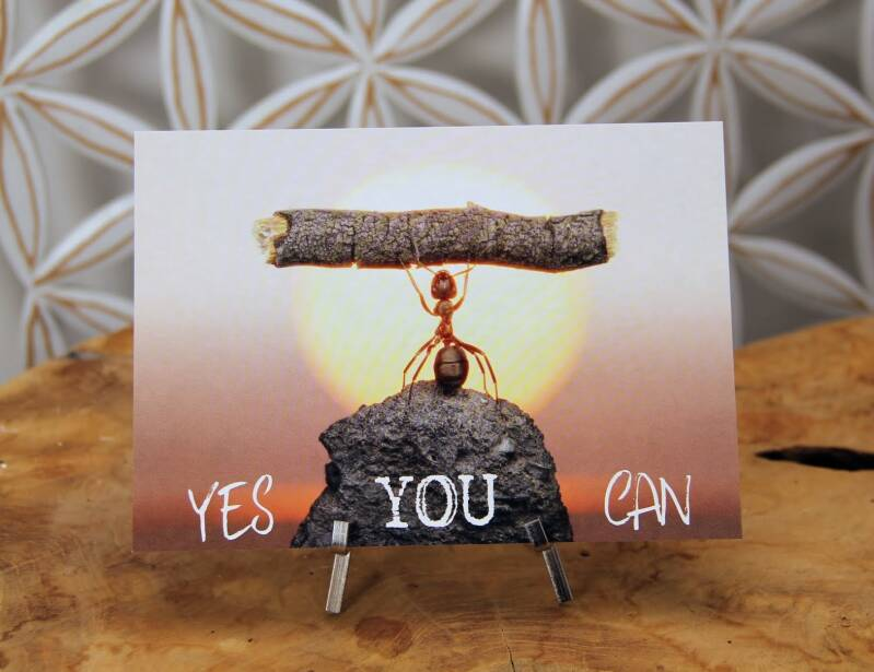 """Postkaart """"Yes you can"""""""