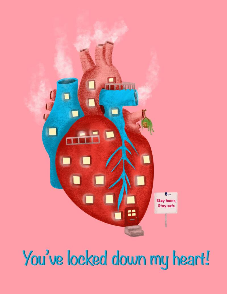 A6 VALENTIJNSDAG KAART 'YOU'VE LOCKED DOWN MY HEART!'