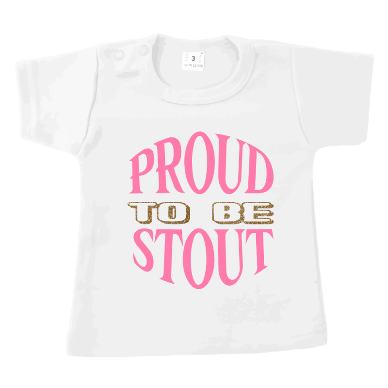 Proud to be Stout - tshirt wit