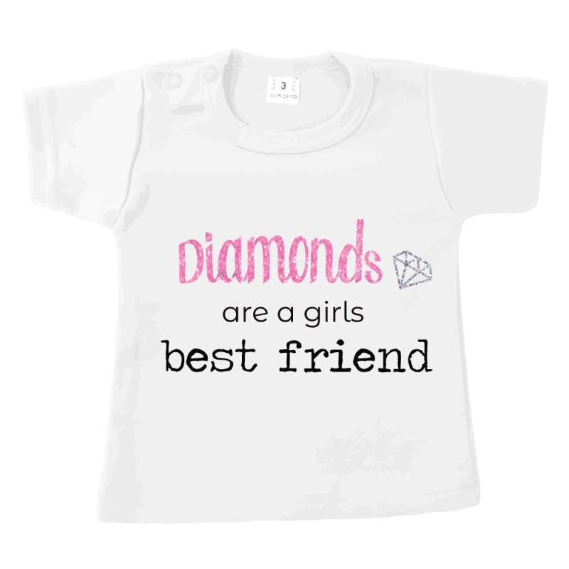 Diamonds are a Girl BestFriend - T-shirt wit
