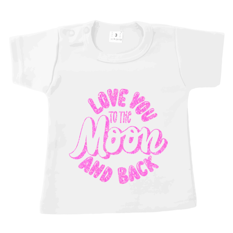 Love u 2 the moon and back - tshirt wit