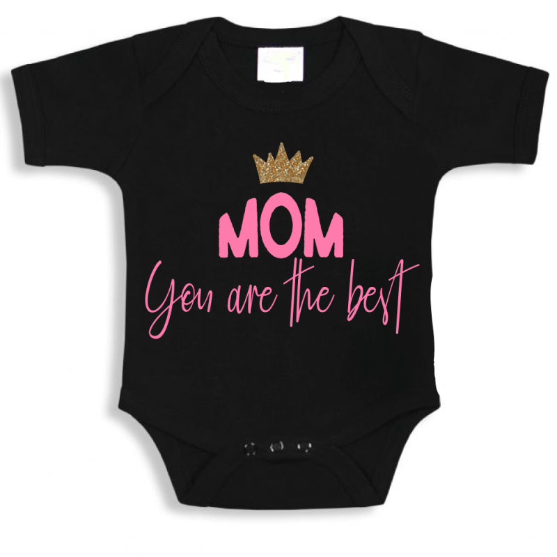 Mom you are the best - romper zwart