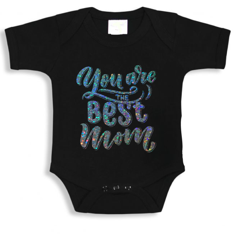 You are the best mom - romper zwart
