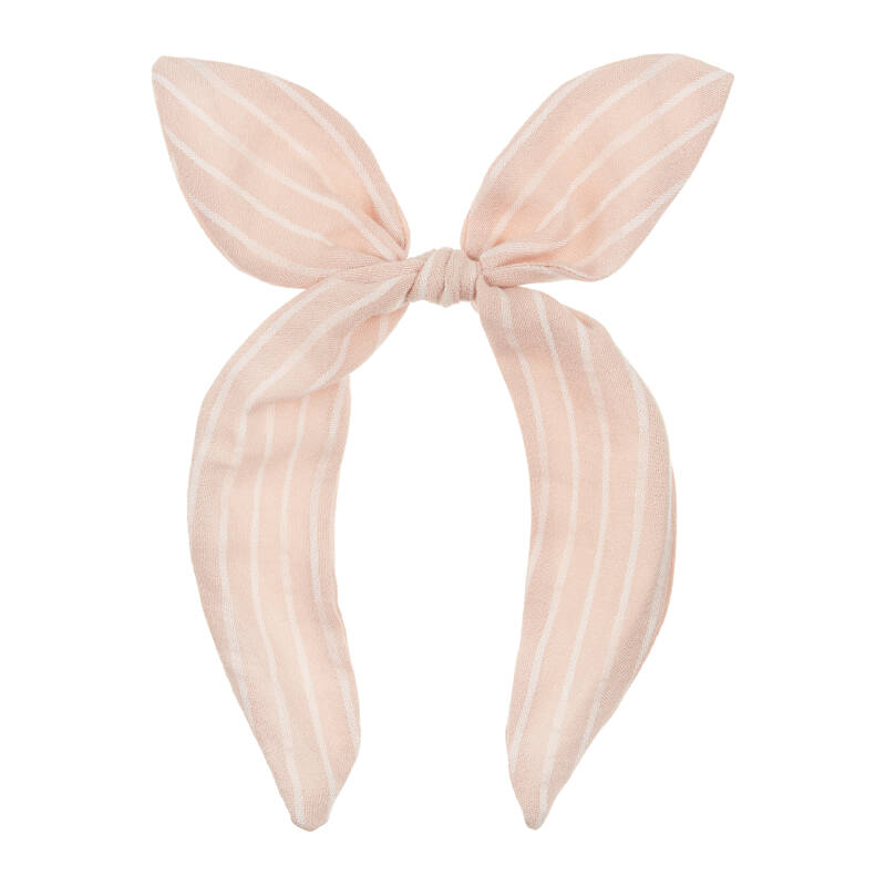 Pink stripe coco bow alice band