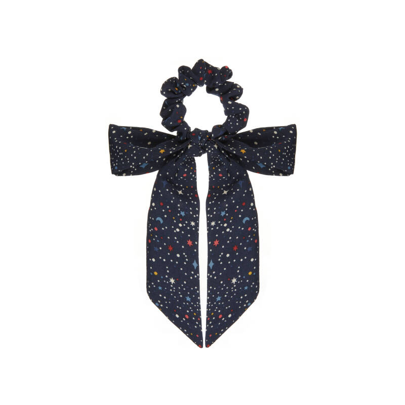 Space Scrunchie With Tails Navy