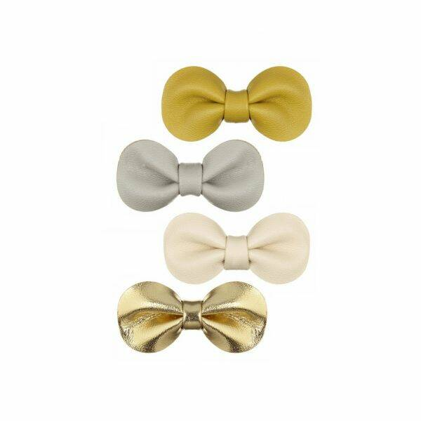 Gracie bow clips gold
