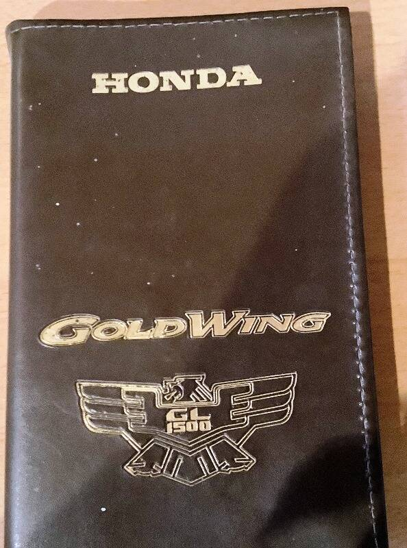 Book-Goldw - Instructie boek Honda Goldwing GL 1500
