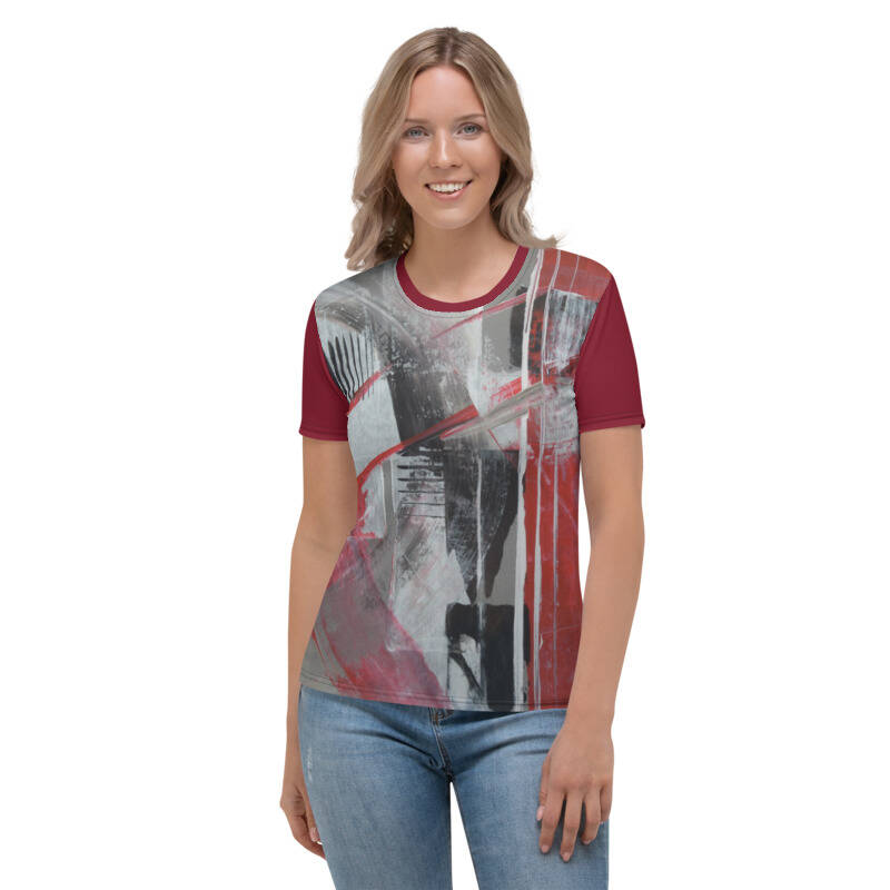 LIEVIX Silver T-shirt donker rood