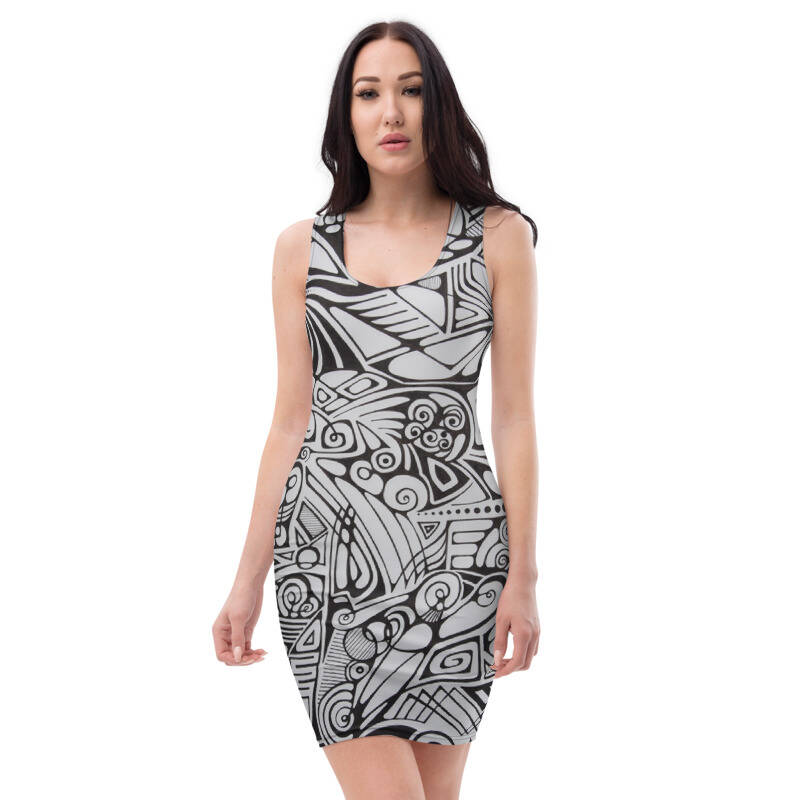 LIEVIX Trible-line bodycon jurk