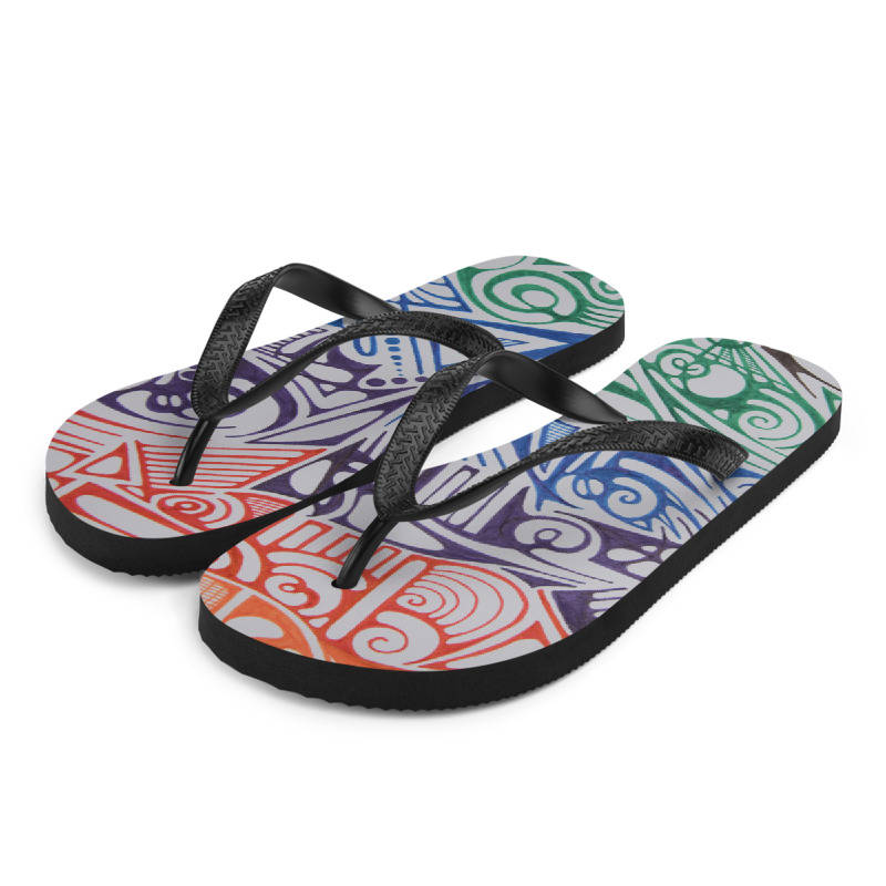 LIEVIX Trible-line color flip-flops
