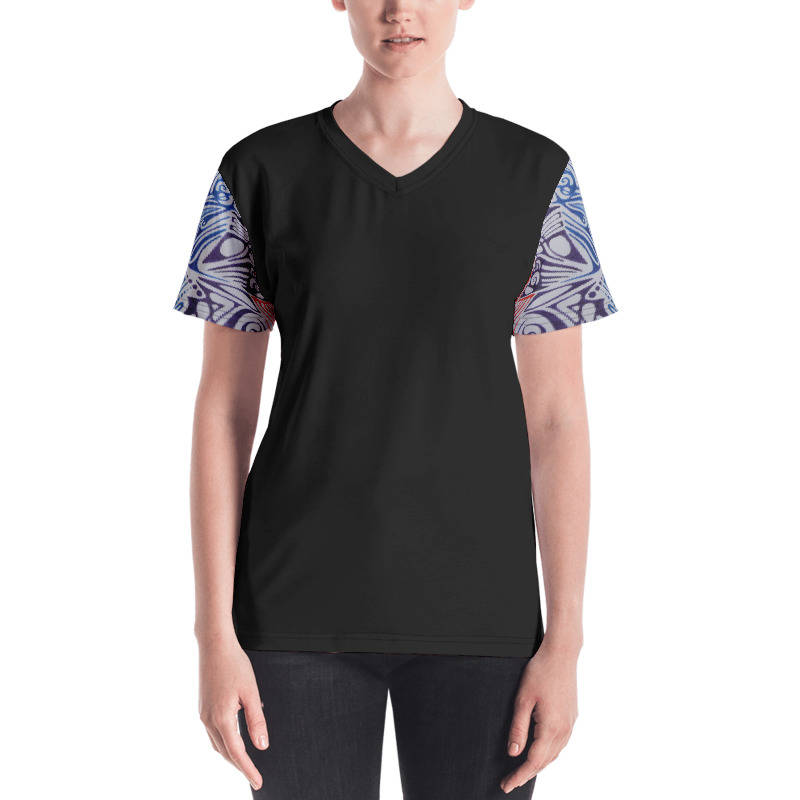 LIEVIX Trible-line color sleeve T-shirt zwart
