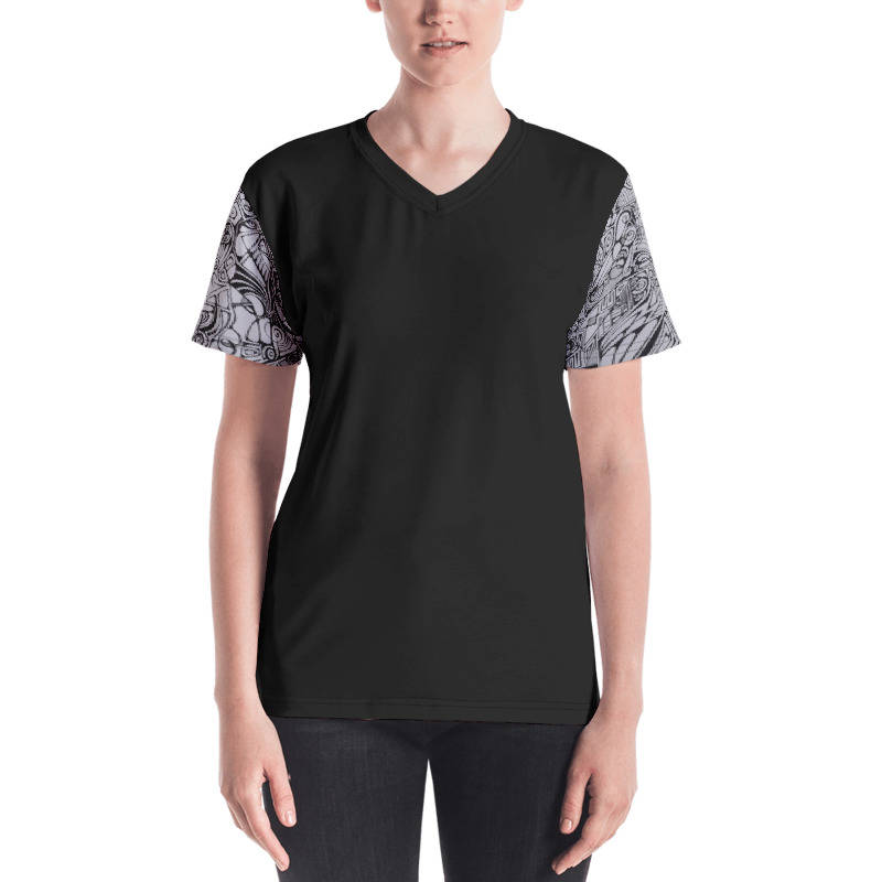 LIEVIX Trible-line sleeve T-shirt zwart