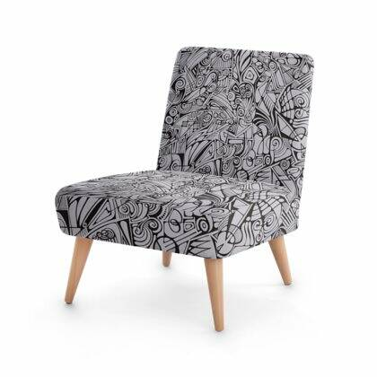 LIEVIX Trible-line velours occasionele design stoel