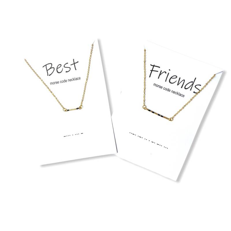 BEST FRIENDS Morse Code  Necklace