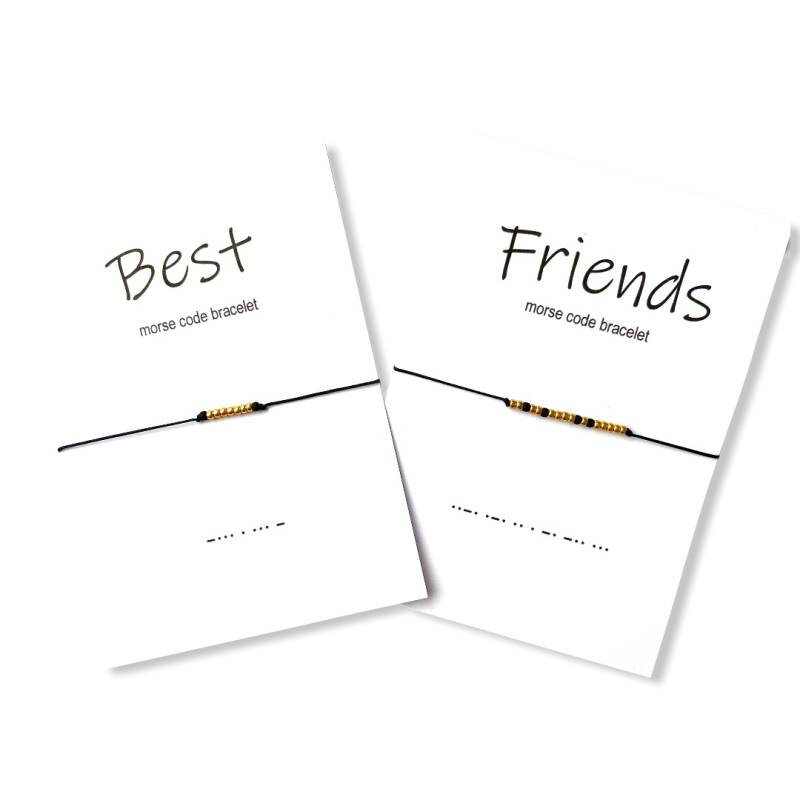 Best Friends Cord Morse Code