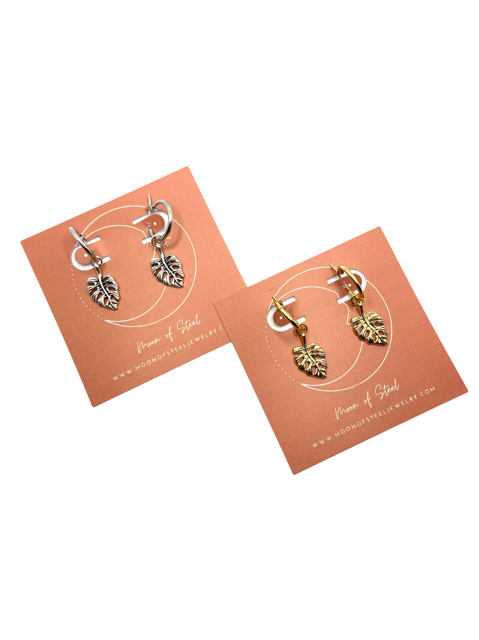 Monstera Mix & Match Earrings