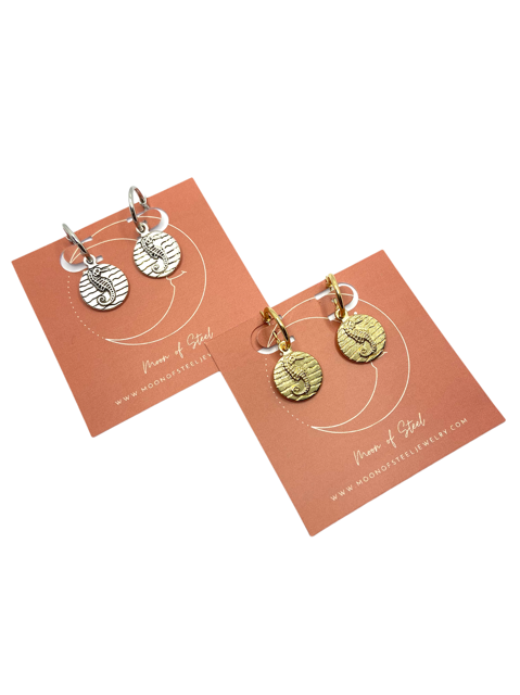 Seahorse Coin Mix & Match Earrings
