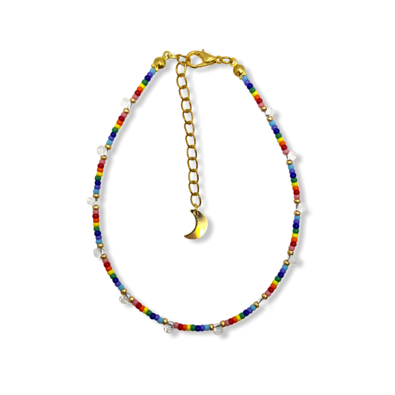 Rainbow Drops Anklet