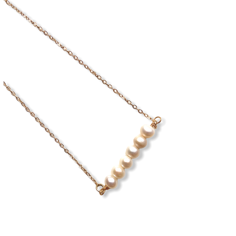 Pearls Bar Necklace