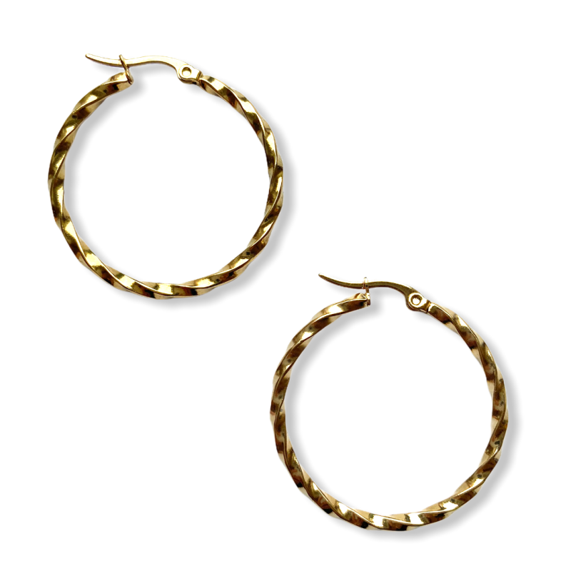Statement Twisted Hoop