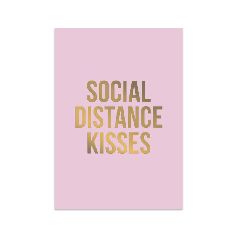 Social Distance Kisses Card
