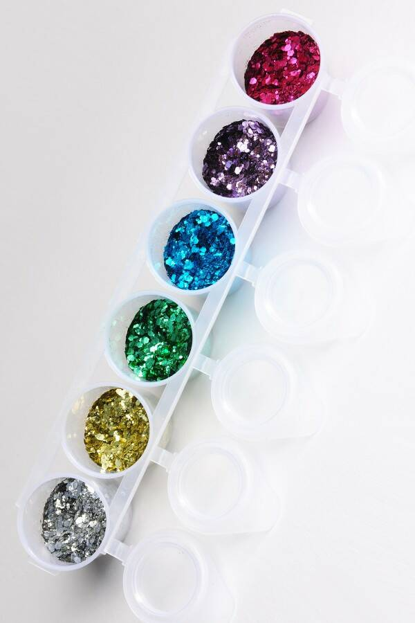 Biodegradable Chunky Glitter Mix 6-pack 90 ml
