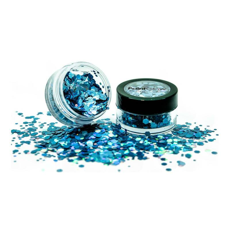 Holographic Chunky Glitter Biodegradable Cosmic Blue 6 ml