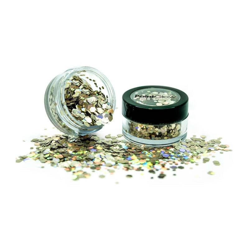 Holographic Chunky Glitter Biodegradable Golden Girl 6 ml