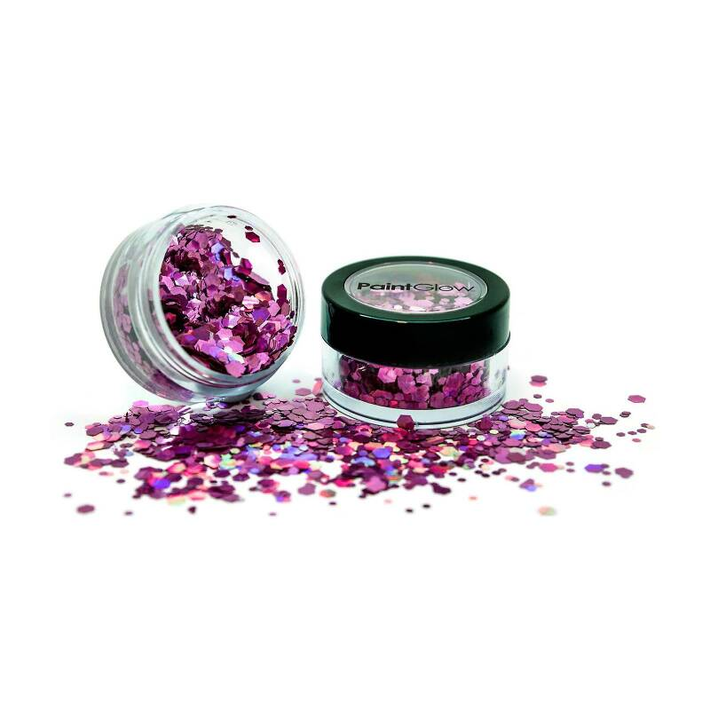 Holographic Chunky Glitter Biodegradable Princess Pink 6 ml