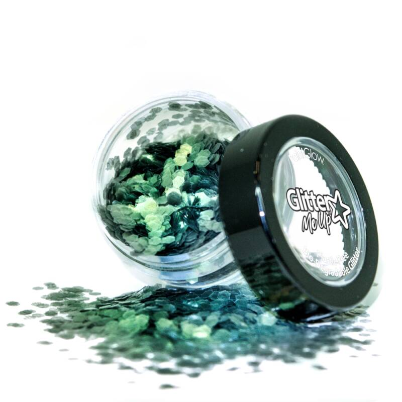 Holographic Chunky Glitter Biodegradable Sage 6 ml