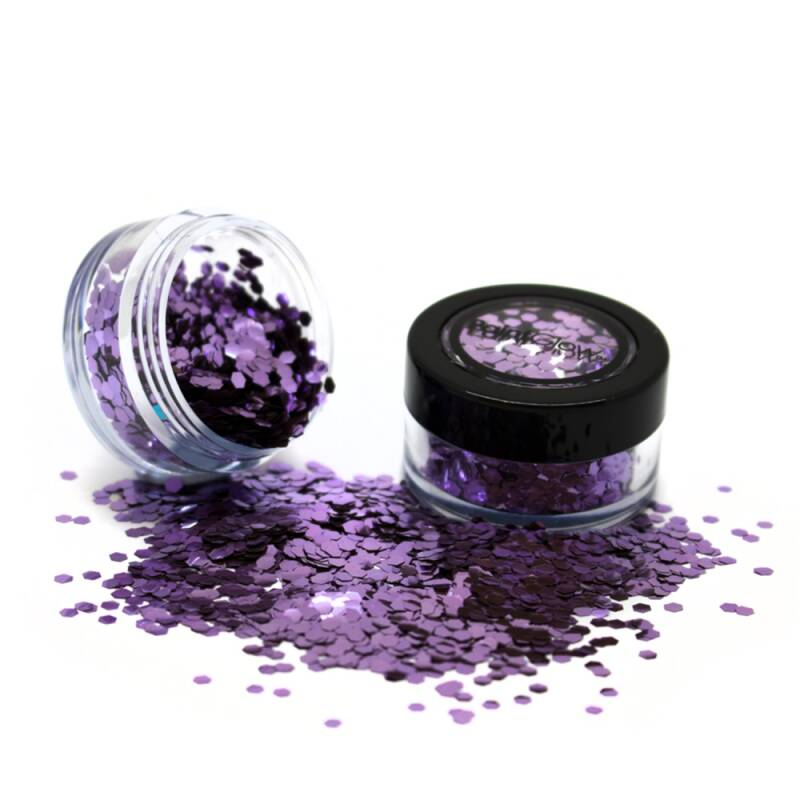Holographic Chunky Glitter Biodegradable Parma Violet 6 ml