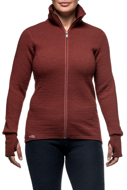 Woolpower - Full Zip Jacket 400 - Rust Red - Unisex