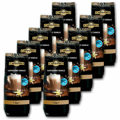 Caprimo cappuccino - vanille poeder 30% less suger 10x1kg