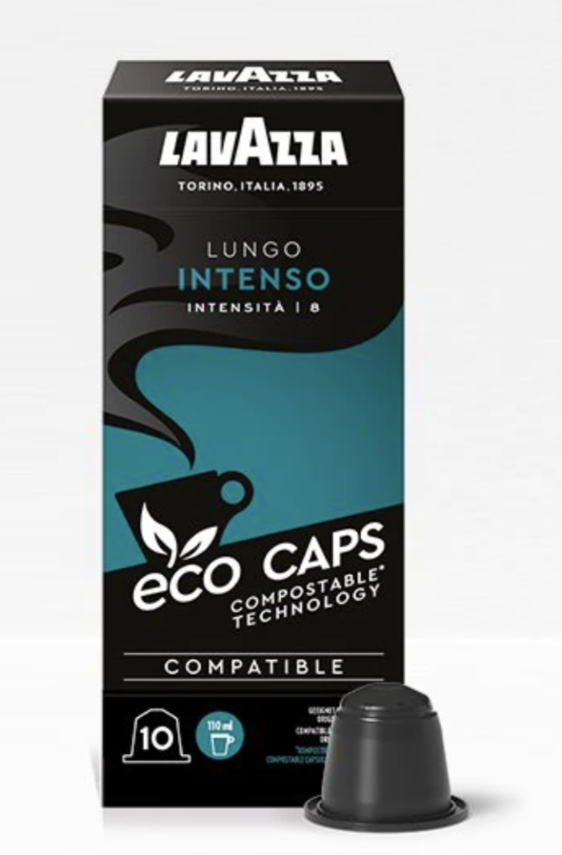 Lavazza Lungo intenso ecocups. Intensiteit 8.