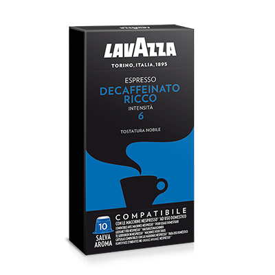 Lavazza Decaffeinato Ricco. Intensiteit 6.