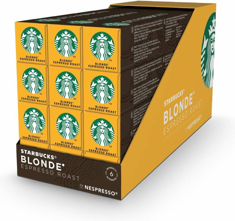 Starbucks blonde espresso roast doos 120 cups
