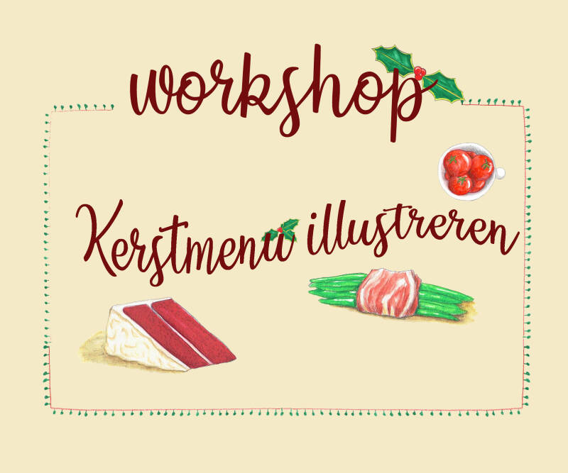 Workshop Kerstmenu illustreren met aquarelpotlood - Speciale kerstprijs!