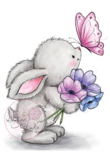 CL463 - Bunny and Butterfly