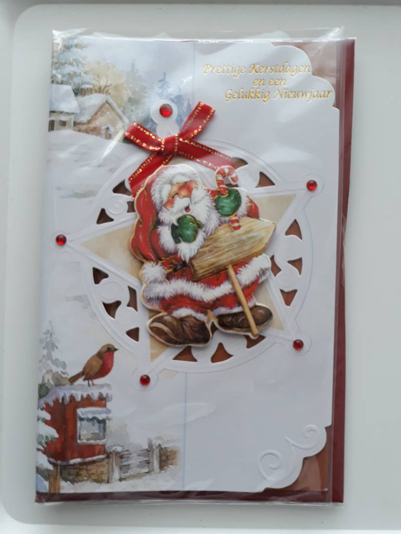 Christmas Card 3D Handmade 3