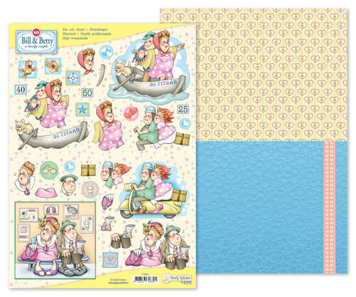 9.0065 - MRJ 3D Die cut sheet Bill & Betty + 1 potpourri sheet